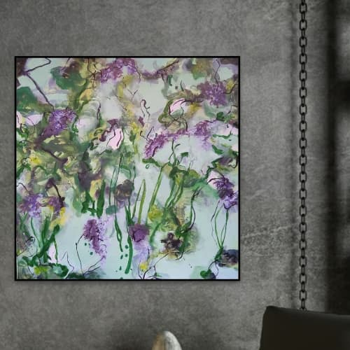 Paintings by Wendy Grace seen at Apaiser Flagship Showroom, Melbourne, Australia, Richmond - Lila