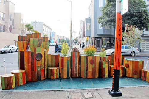 """Public Parklet """"You Are Here"""" 