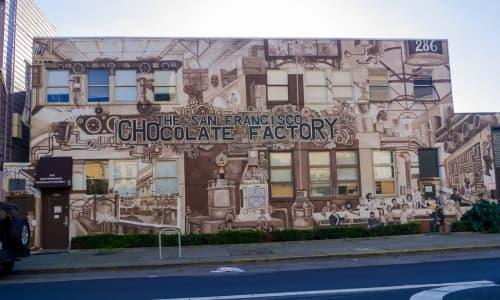 Murals by Alyssa Morgan seen at The San Francisco Chocolate Factory, San Francisco - The San Francisco Chocolate Factory