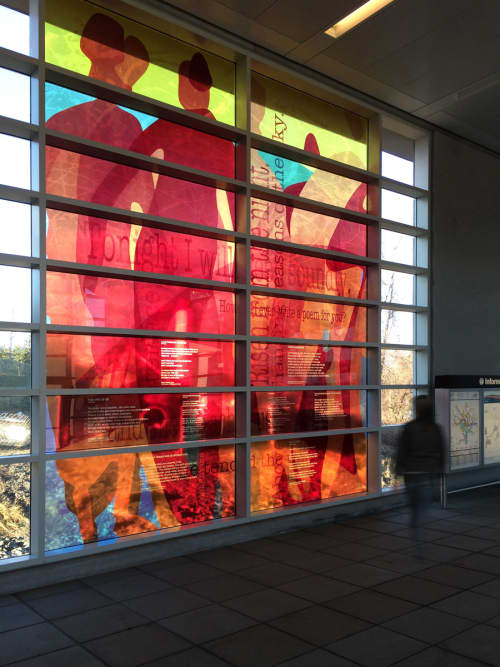 Voyagers   Art & Wall Decor by Martin Donlin   McLean Metro Station, Fairfax County in Tysons