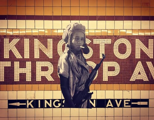 Child with Automatic | Art & Wall Decor by Jilly Ballistic | Kingston-Throop; Euclid Bound C in Brooklyn