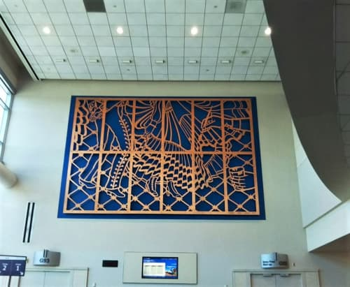 Baile   Paintings by Carmen Lomas Garza   San Francisco International Airport in San Francisco