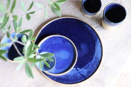 Ocean Blue   Ceramic Plates by Ceramics by Charlotte
