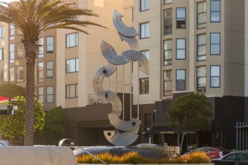 Sculptures by John Atkin seen at The Fillmore Center, San Francisco - Hard Bop