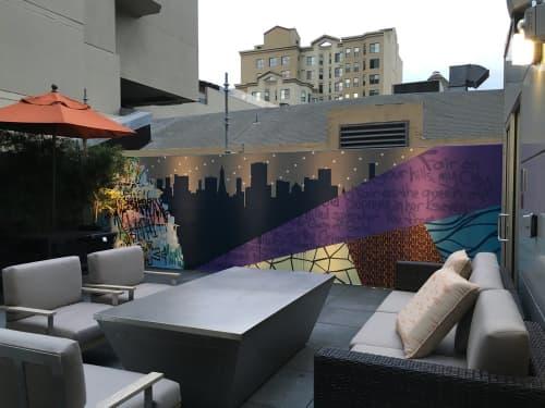 Courtyard Marriott Mural | Murals by Strider Patton | Courtyard by Marriott San Francisco Union Square in San Francisco
