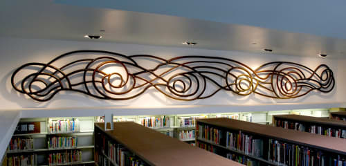 Currents | Sculptures by Eric Powell | Ingleside Branch Library in San Francisco