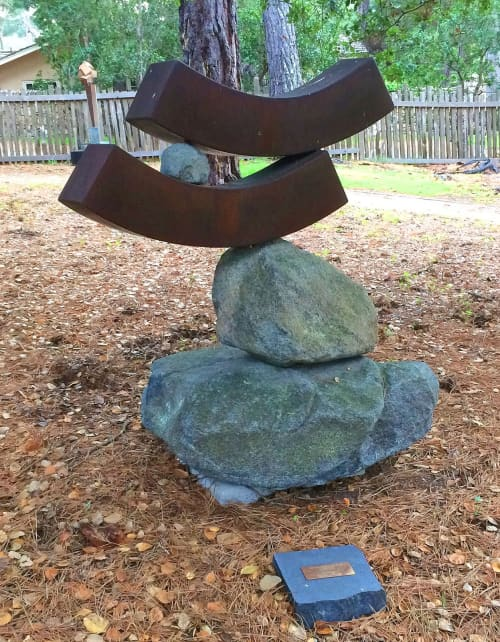 Sculptures by Stefani Esta seen at Carl Cherry Center for the Arts, Carmel-by-the-Sea - In Balance IV
