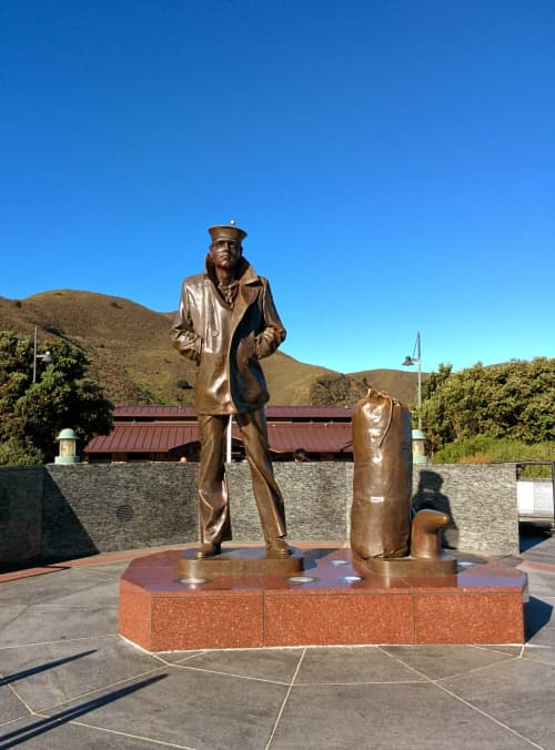 Public Sculptures by Stanley Bleifeld seen at Vista Point, Sausalito - The Lone Sailor