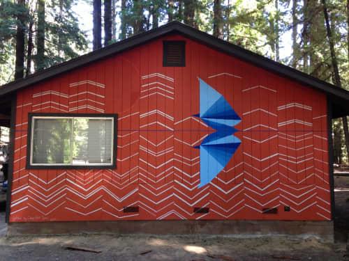 Murals by Kelly Ording seen at Camp Navarro, Navarro - Camp Artseen Mural