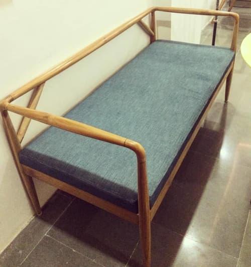 Portico bench | Benches & Ottomans by GreenSquares_DesignStudio