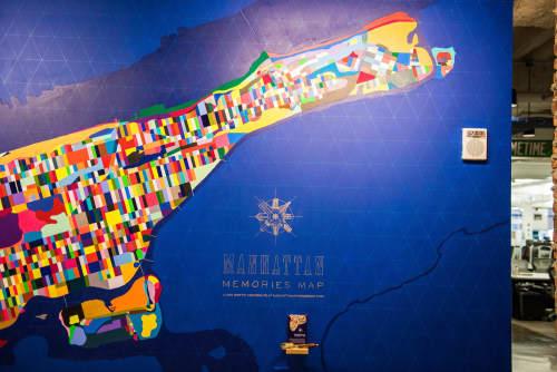 Manhattan Memories Map   Murals by Jennifer Maravillas   Facebook, New York, Astor Place in New York