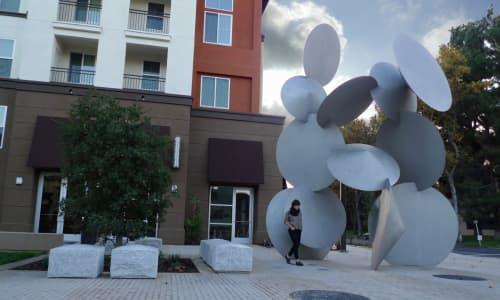 Public Sculptures by Richard Deutsch seen at State Street Plaza, Fremont, Fremont - Turning Point