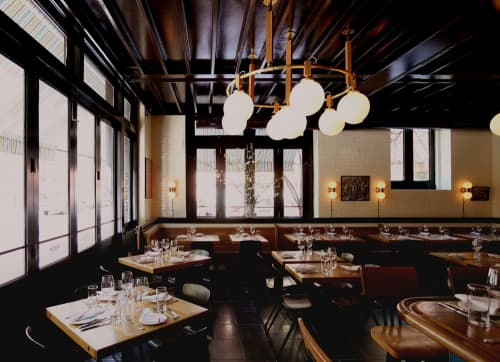 Wooden Light Fixtures | Lighting by Roman and  Williams | The Dutch in New York