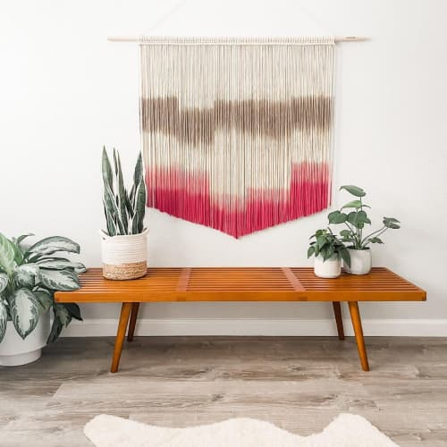 Macrame Wall Hanging by Love & Fiber seen at Creator's Studio, San Diego - Pink and Gray Wall Hanging