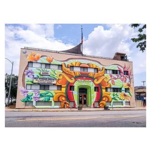 On The Wall Prod. Mural   Murals by Liza Fishbone   Urban Harvest STL in St. Louis