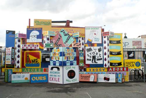 Street Murals by Stephen Powers (ESPO) seen at Coney Island Art Walls, Brooklyn - Art Wall