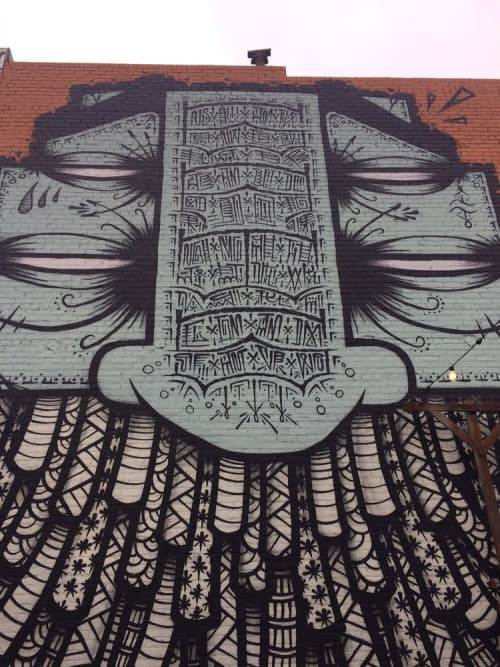 Murals by G.A.T.S (Graffiti Against the System) seen at Telegraph, Oakland - Beeryland