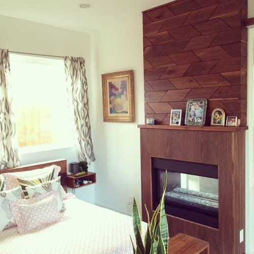 Walnut Woodwall   Wall Treatments by Trey Jones Studio