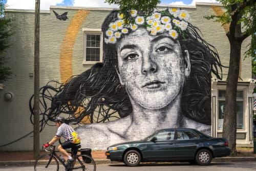 Kaiya w/ Crown   Murals by Nils Westergard   Pine Street Barber Shop in Richmond