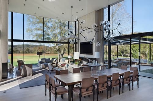 Chairs by Richard Wrightman Design at The Farm House, Nashville - Chatwin Dining Chairs