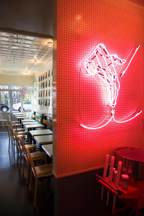 Lighting by Petra Collins seen at Cafe Henrie, New York - Neon Artwork