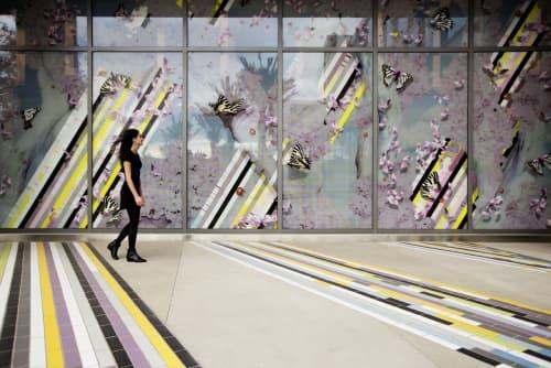 Inverted Landscapes | Art & Wall Decor by Elena Manferdini | Zev Yaroslavsky Family Support Center in Los Angeles