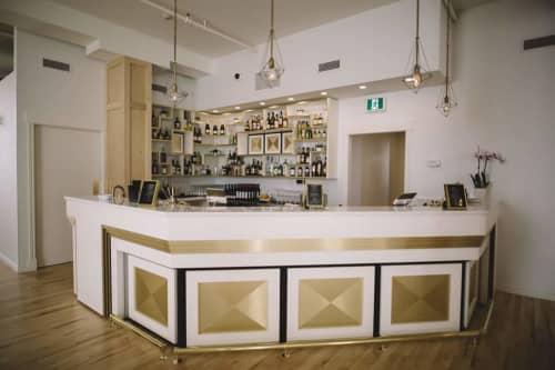 Furniture by Nathan Kushner - Industrial Craftsman at The Chanterelle, Thunder Bay - The Chanterelle Ballroom Bar