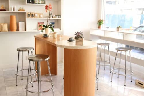 Tables by Robert Sukrachand at Café Integral, New York - Gibbous Coffee Table (bar height)