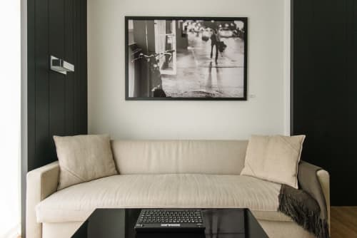 Photography by Liezl Zwarts seen at Andaz 5th Avenue, New York - Bicycle in Rain