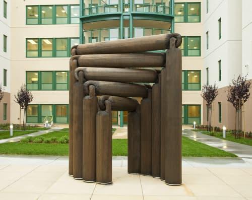 NEVERODDOREVEN   Sculptures by Louise Bertelsen   Laguna Honda Hospital and Rehabilitation Center in San Francisco