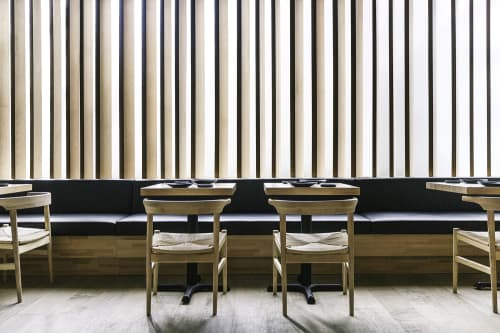 Chairs by Marwan Al Sayed Inc. seen at Hamasaku, Los Angeles - Maple Chairs