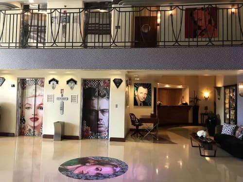 Art Works and Designs   Murals by Elisabetta Fantone Art   National Hotel in Miami Beach