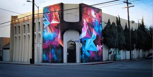 Street Murals by Mikael B seen at 6601 Santa Monica Blvd, Los Angeles, CA, Los Angeles - SkyFire