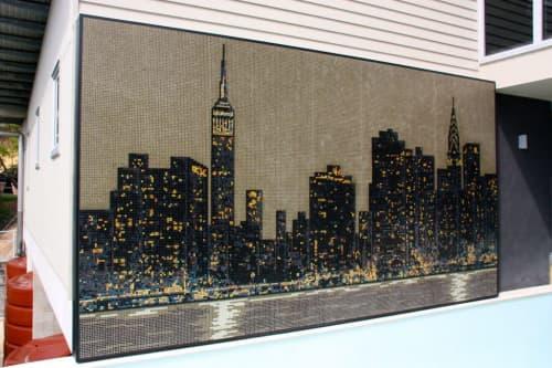 New York Skyline Artwork   Public Mosaics by Symmetry Mosaics