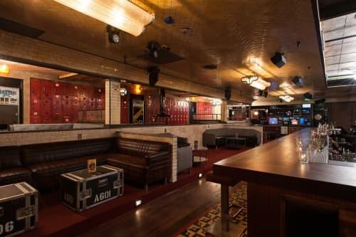 Roadie Cases Repurposed As Tables | Tables by Houston Hospitality | Break Room 86 in Los Angeles