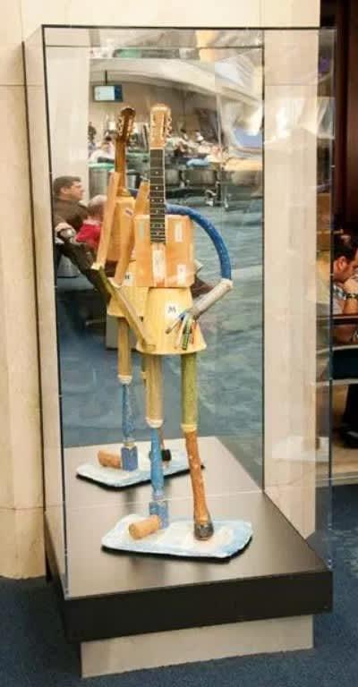 Sculptures by Richard Shaw seen at San Francisco International Airport, San Francisco - Martha H