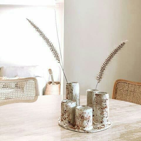 Tableware by Di Campagna seen at Private Residence - Handmade Ceramic Table Art