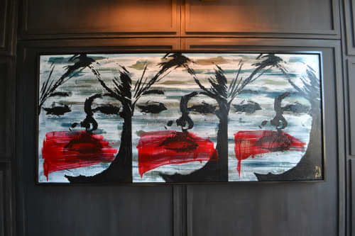 Paintings by Jeremy Penn seen at Dream Downtown, New York - Hot Lips on Wax