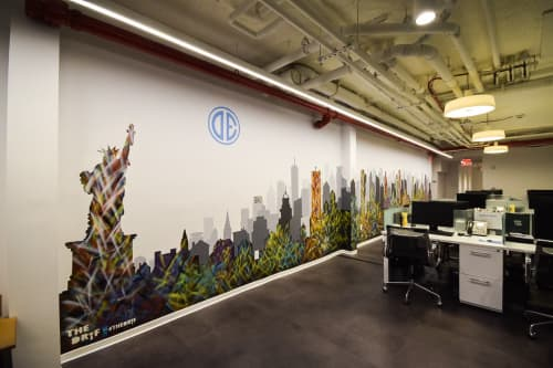 Murals by The DRiF at Douglas Elliman, New York - Mural