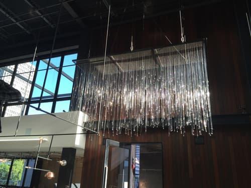 Quadrature Chandelier | Chandeliers by Neptune Glassworks | Otium in Los Angeles