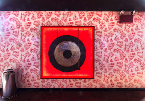 Chinatown Toile - Wallpaper | Wallpaper by Dan Funderburgh | Bowlmor Times Square in New York