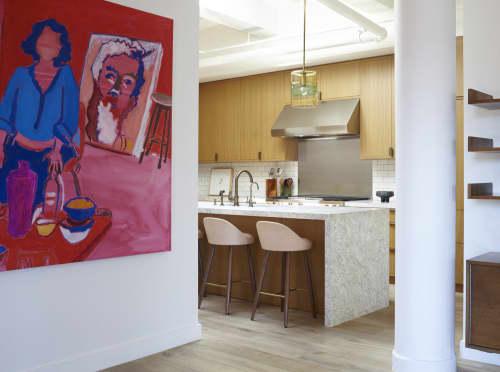 Paintings by Kerri Scharlin seen at Greenwich Village Loft, New York - Marlene Dumas