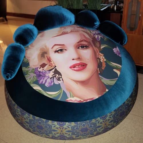 Marilyn Monroe ottoman | Benches & Ottomans by Elisabetta Fantone Art | National Hotel in Miami Beach
