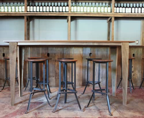 Chairs by Brendan Ravenhill at Osteria La Buca, Los Angeles - Bar Stools Angle