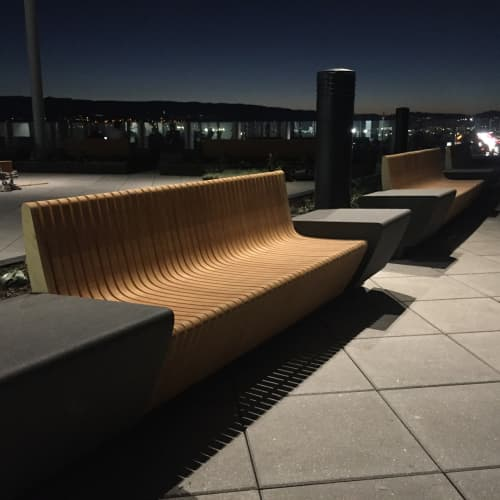 Custom Benches   Benches & Ottomans by Ghostown Woodworks by Rusty Dobbs   Facebook HQ in Menlo Park