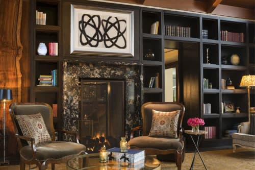Paintings by Amy Kaufman seen at Rosewood Sand Hill, Menlo Park - Twins