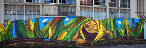 Street Murals by Katya Khan seen at Gordon Street, SoMa, San Francisco - The Line of Life
