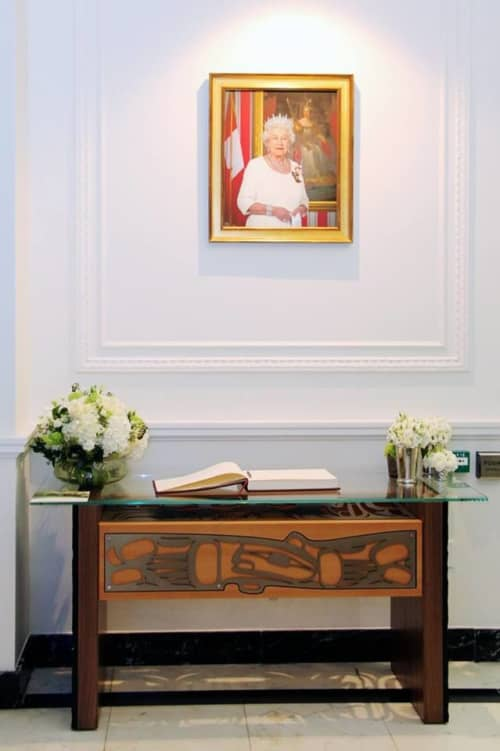 Sign-in Table | Tables by Sabina Hill | High Commission of Canada in the United Kingdom in London