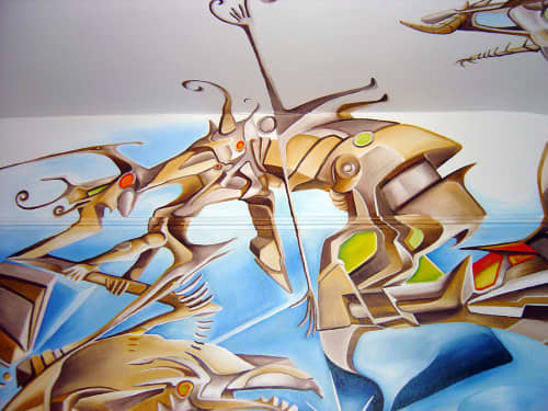 Murals by Antoine Merger seen at Hotel Des Arts, San Francisco - Room 311