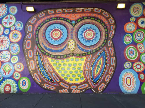 Whoot Mural   Street Murals by Tony Passero   3360 W Belmont Ave, Chicago in Chicago